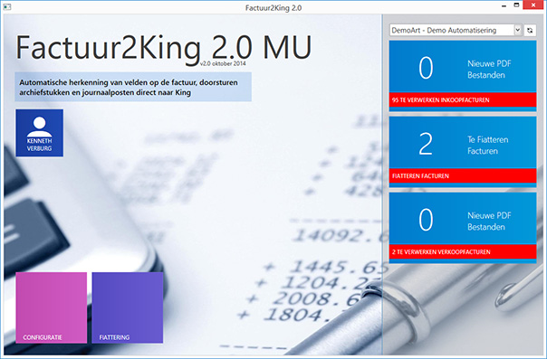 Factuur2King 2.0 Multi-User (MU)